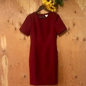 J.CREW Red Short Sleeve Executive Dress Size 4 (S)